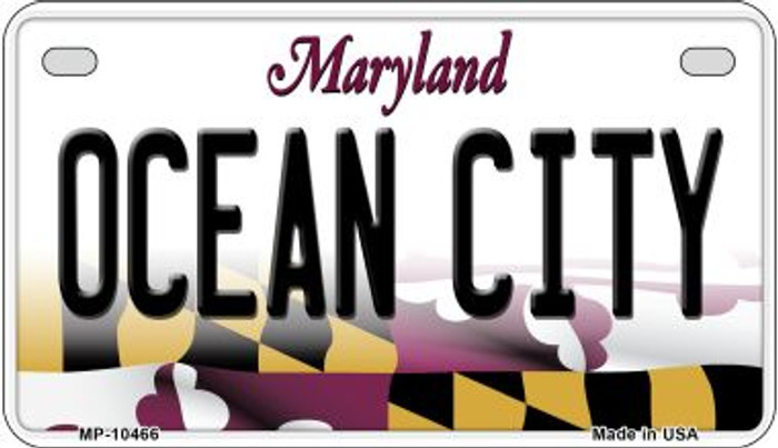 Ocean City Maryland Novelty Metal Motorcycle Plate MP-10466