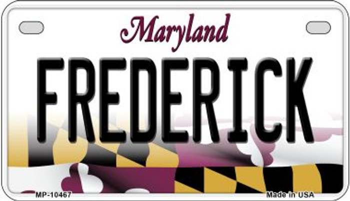 Frederick Maryland Novelty Metal Motorcycle Plate MP-10467