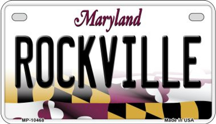 Rockville Maryland Novelty Metal Motorcycle Plate MP-10468