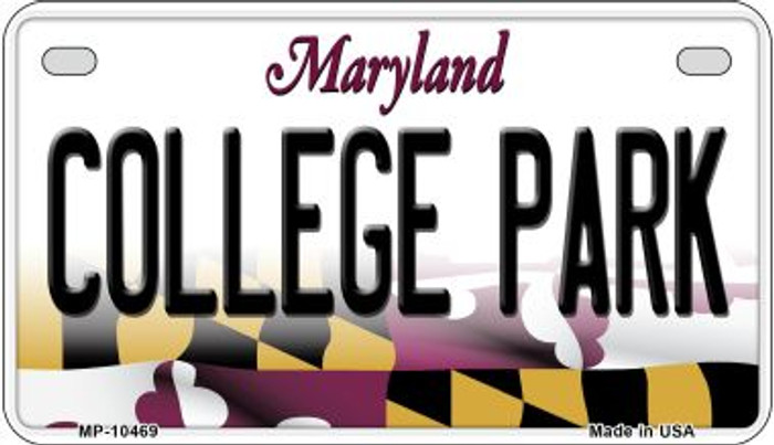 College Park Maryland Novelty Metal Motorcycle Plate MP-10469