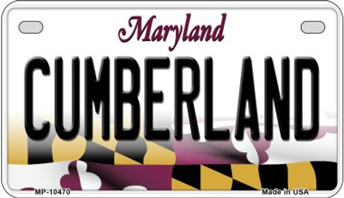 Cumberland Maryland Novelty Metal Motorcycle Plate MP-10470