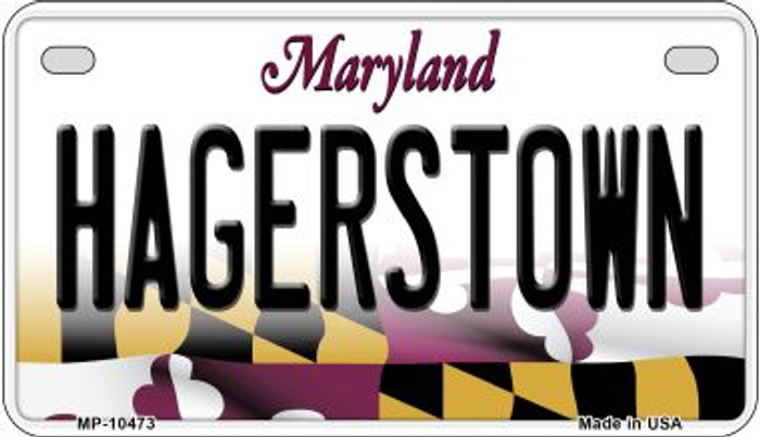 Hagerstown Maryland Novelty Metal Motorcycle Plate MP-10473