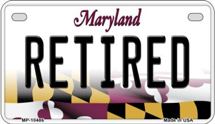 Retired Maryland Novelty Metal Motorcycle Plate MP-10486
