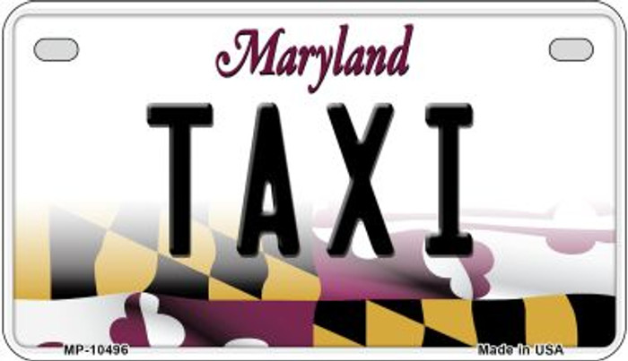 Taxi Maryland Novelty Metal Motorcycle Plate MP-10496