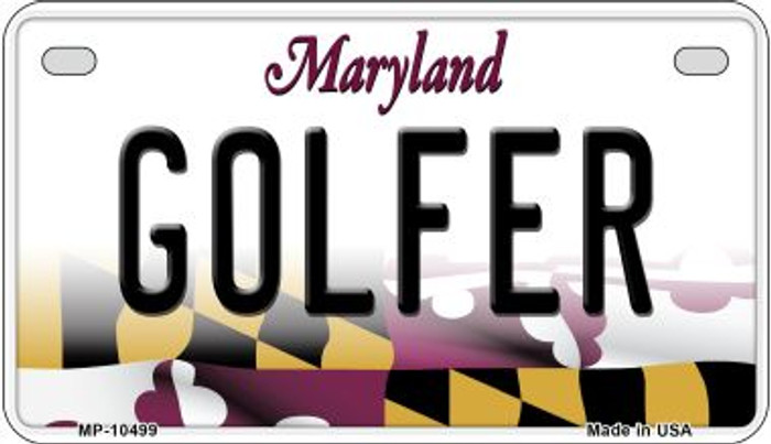 Golfer Maryland Novelty Metal Motorcycle Plate MP-10499