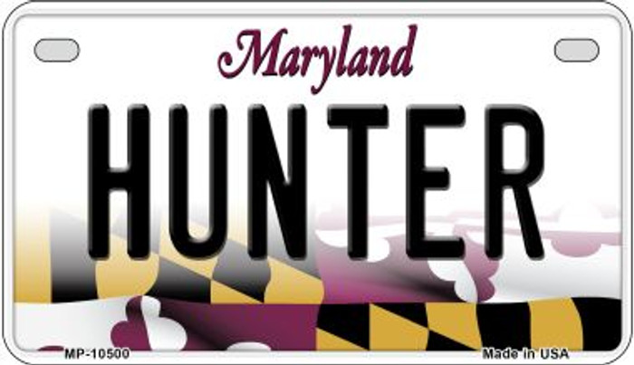 Hunter Maryland Novelty Metal Motorcycle Plate MP-10500