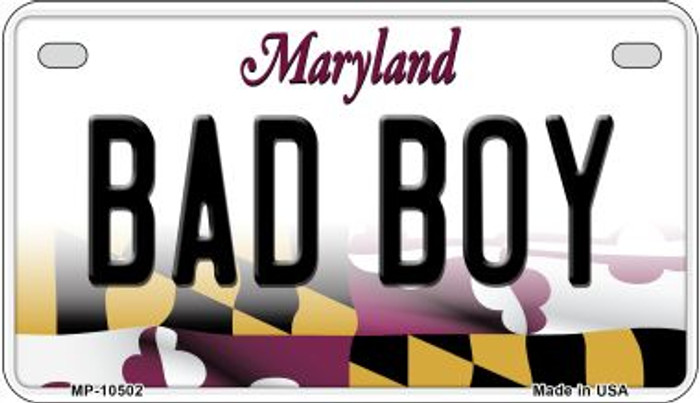 Bad Boy Maryland Novelty Metal Motorcycle Plate MP-10502