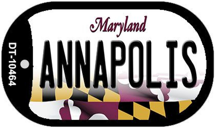 Annapolis Maryland Novelty Metal Dog Tag Necklace DT-10464