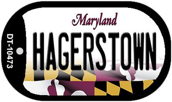 Hagerstown Maryland Novelty Metal Dog Tag Necklace DT-10473