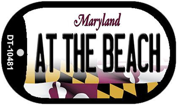 At The Beach Maryland Novelty Metal Dog Tag Necklace DT-10481