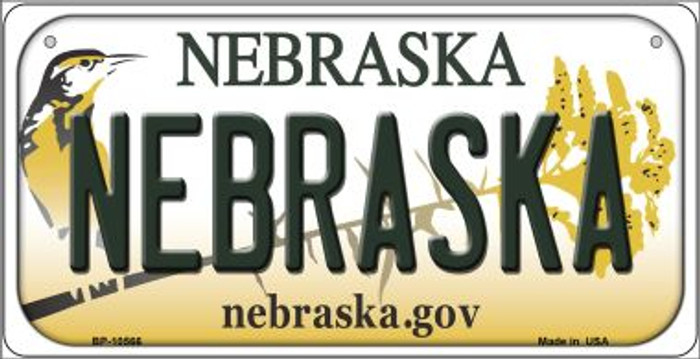 Nebraska Novelty Metal Bicycle Plate BP-10566
