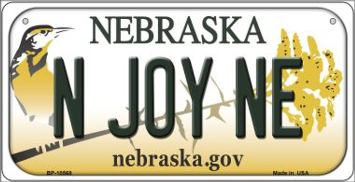 N Joy NE Nebraska Novelty Metal Bicycle Plate BP-10568