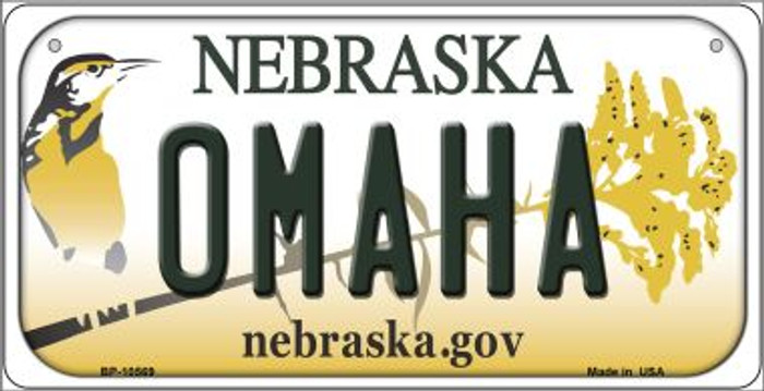 Omaha Nebraska Novelty Metal Bicycle Plate BP-10569