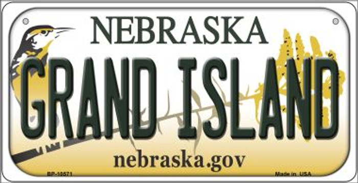 Grand Island Nebraska Novelty Metal Bicycle Plate BP-10571