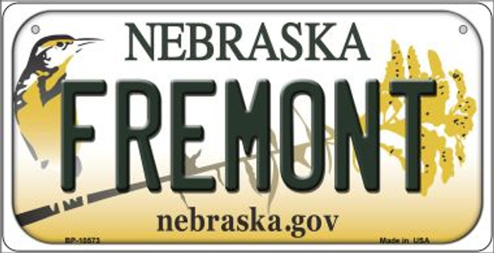 Fremont Nebraska Novelty Metal Bicycle Plate BP-10573