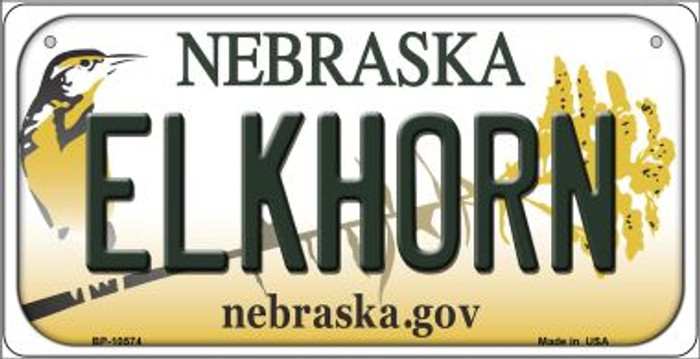 Elkhorn Nebraska Novelty Metal Bicycle Plate BP-10574