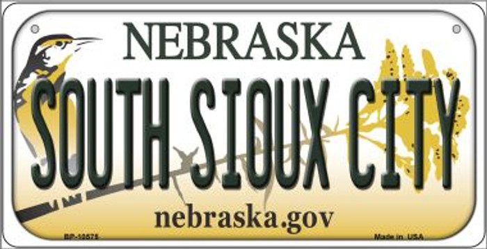 South Sioux City Nebraska Novelty Metal Bicycle Plate BP-10575
