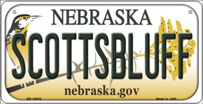 Scottsbluff Nebraska Novelty Metal Bicycle Plate BP-10576