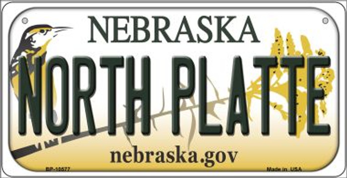 North Platte Nebraska Novelty Metal Bicycle Plate BP-10577