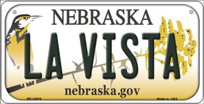La Vista Nebraska Novelty Metal Bicycle Plate BP-10578
