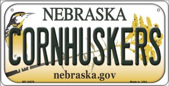 Cornhuskers Nebraska Novelty Metal Bicycle Plate BP-10579