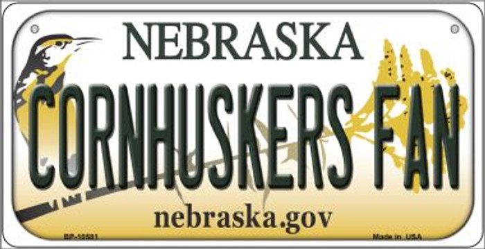 Cornhuskers Fan Nebraska Novelty Metal Bicycle Plate BP-10581