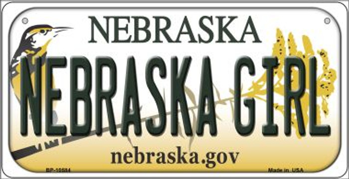 Nebraska Girl Novelty Metal Bicycle Plate BP-10584
