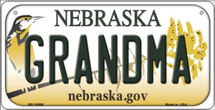 Grandma Nebraska Novelty Metal Bicycle Plate BP-10586