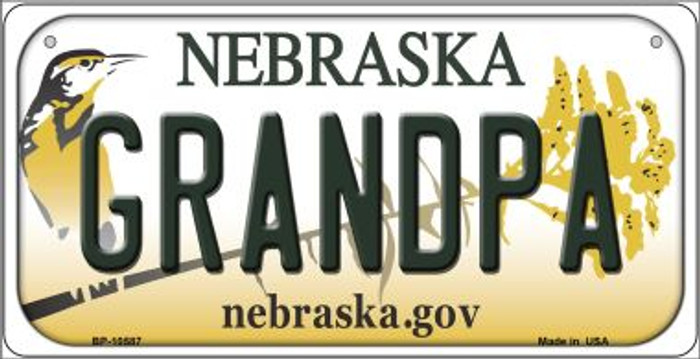 Grandpa Nebraska Novelty Metal Bicycle Plate BP-10587