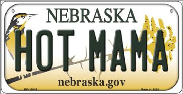 Hot Mama Nebraska Novelty Metal Bicycle Plate BP-10589