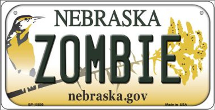 Zombie Nebraska Novelty Metal Bicycle Plate BP-10590