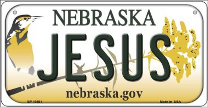 Jesus Nebraska Novelty Metal Bicycle Plate BP-10591