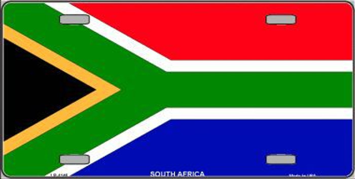 South Africa Flag Metal Novelty License Plate LP-4146