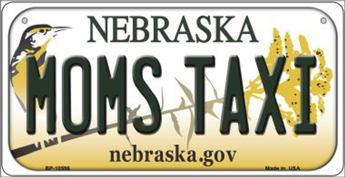 Moms Taxi Nebraska Novelty Metal Bicycle Plate BP-10596