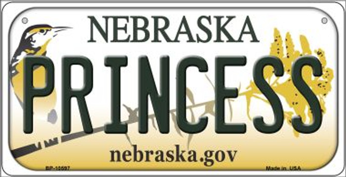Princess Nebraska Novelty Metal Bicycle Plate BP-10597