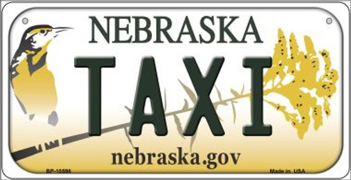 Taxi Nebraska Novelty Metal Bicycle Plate BP-10598