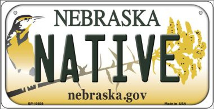 Native Nebraska Novelty Metal Bicycle Plate BP-10599