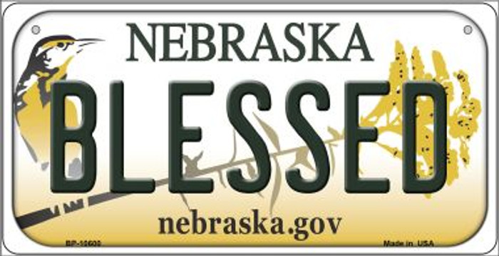 Blessed Nebraska Novelty Metal Bicycle Plate BP-10600