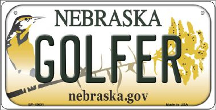 Golfer Nebraska Novelty Metal Bicycle Plate BP-10601