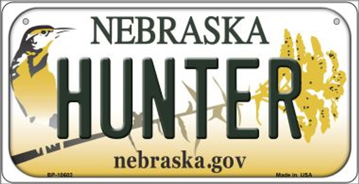 Hunter Nebraska Novelty Metal Bicycle Plate BP-10602