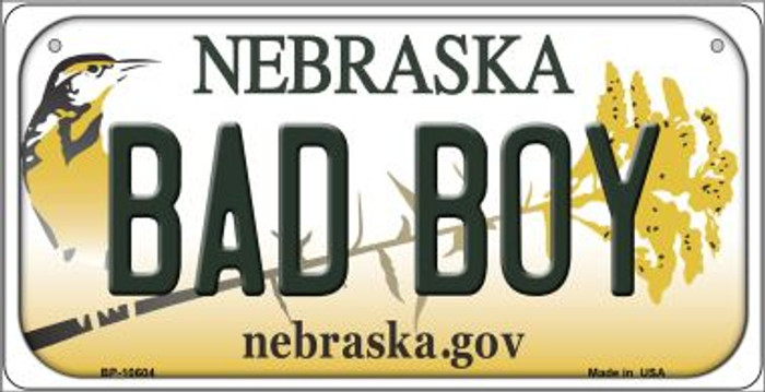 Bad Boy Nebraska Novelty Metal Bicycle Plate BP-10604
