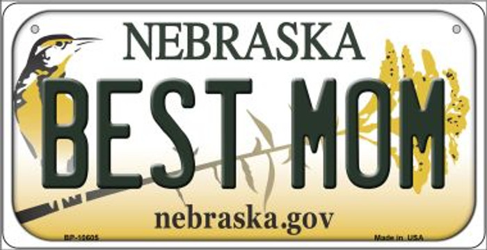 Best Mom Nebraska Novelty Metal Bicycle Plate BP-10605