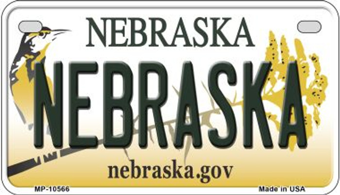 Nebraska Novelty Metal Motorcycle Plate MP-10566
