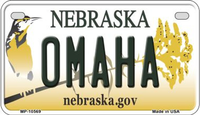 Omaha Nebraska Novelty Metal Motorcycle Plate MP-10569