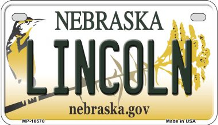 Lincoln Nebraska Novelty Metal Motorcycle Plate MP-10570