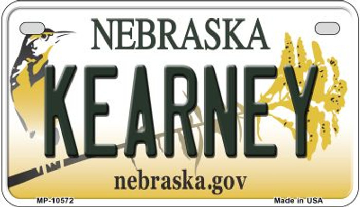 Kearney Nebraska Novelty Metal Motorcycle Plate MP-10572
