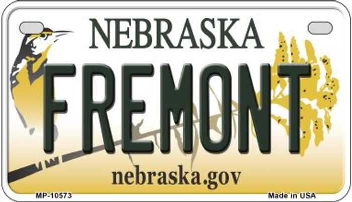 Fremont Nebraska Novelty Metal Motorcycle Plate MP-10573