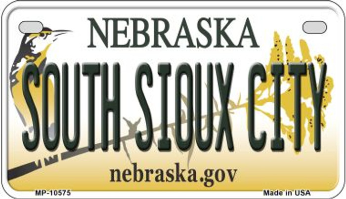 South Sioux City Nebraska Novelty Metal Motorcycle Plate MP-10575