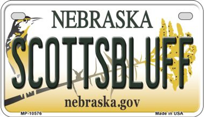 Scottsbluff Nebraska Novelty Metal Motorcycle Plate MP-10576