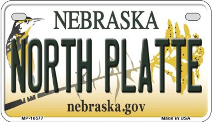 North Platte Nebraska Novelty Metal Motorcycle Plate MP-10577